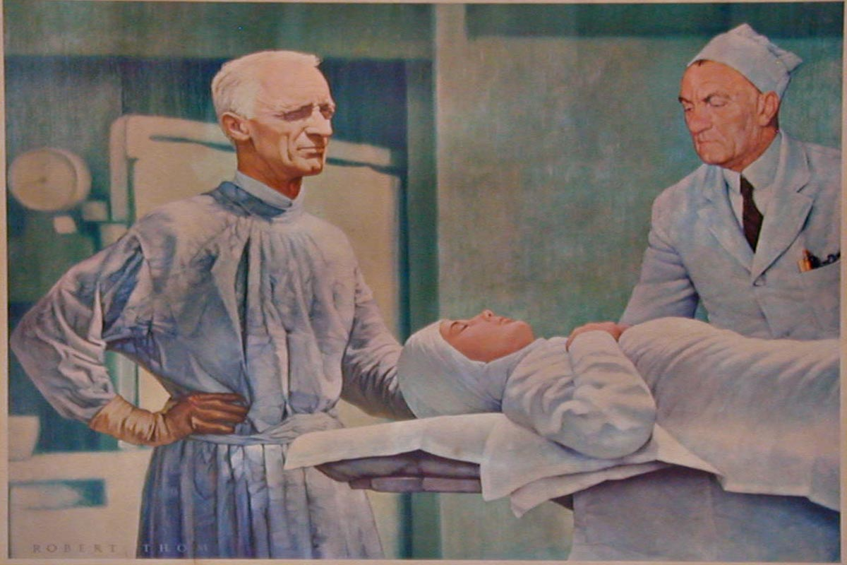 Dr. Harvey Cushing in surgery